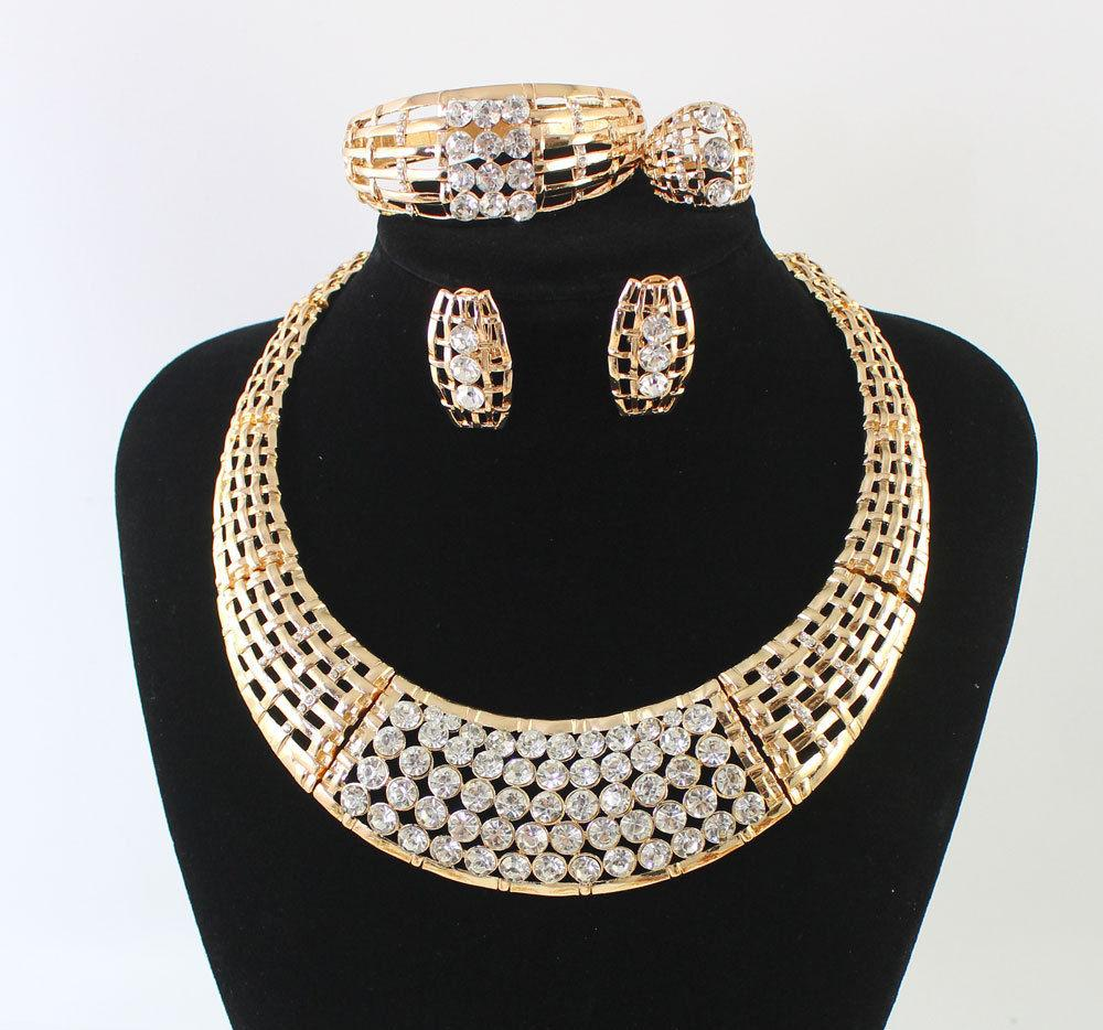 AFRICAN CLEAR CRYSTAL JEWELRY SET