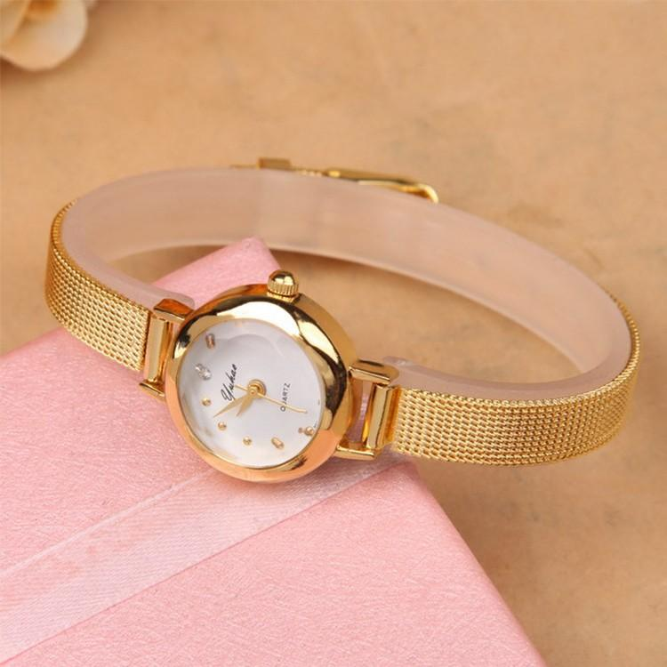 DAINTY WOMEN WATCH GOLD COLOR