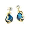 WATER DROP BIG BLUE EARRINGS