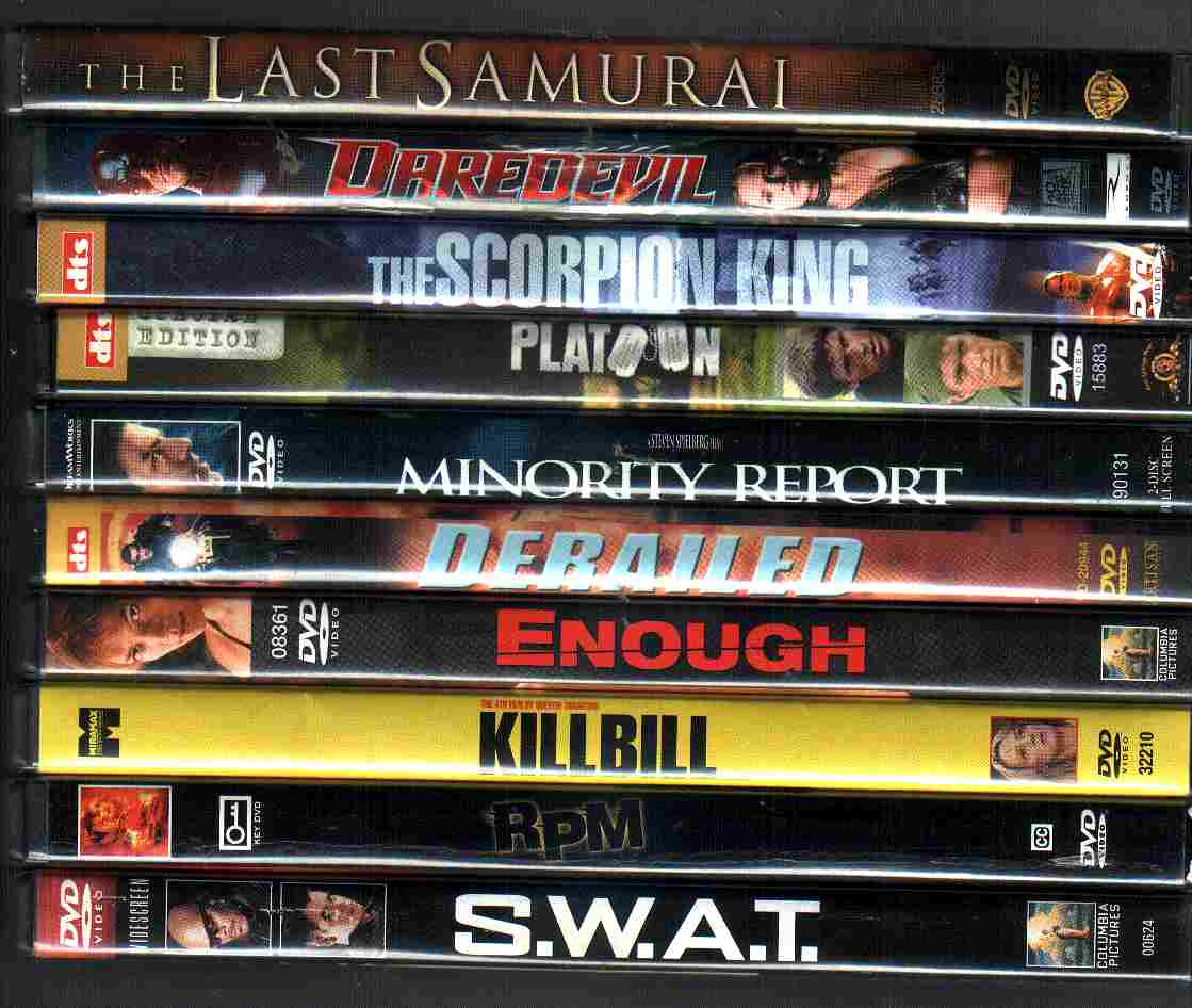 10 USED ActionFlick DVDs