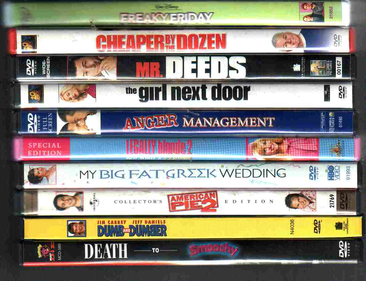 10 USED Comedies DVDs