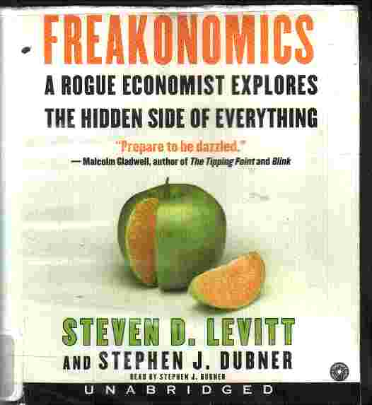 the use of an analogy in freakonomics by steven d levitt Stephen j dubner (right) and steven d levitt, who have written 'think like   michael bloomberg might run for the us presidency and use the list as a  manifesto  and yet, dubner says now, the irony is, he has cut the nhs.