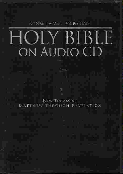 HOLY BIBLE on audio CD MP3 format