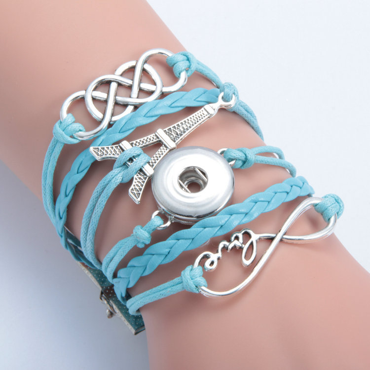 INFINITY CHARM BRACELET LIGHT BLUE