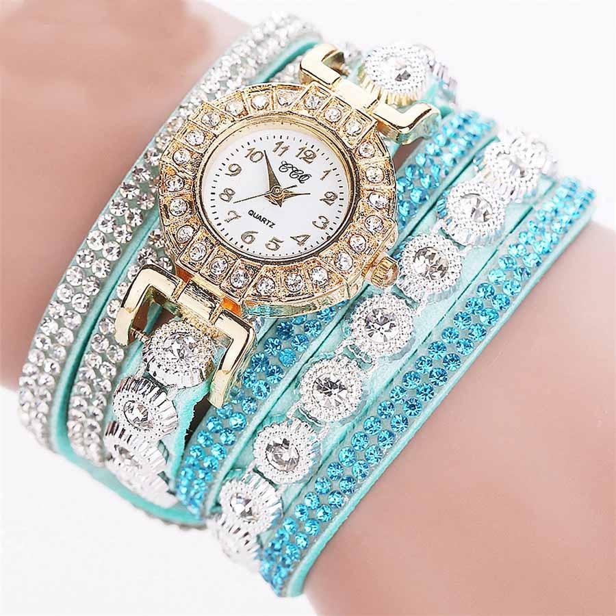 LAVISH BRACELET WATCH AQUA