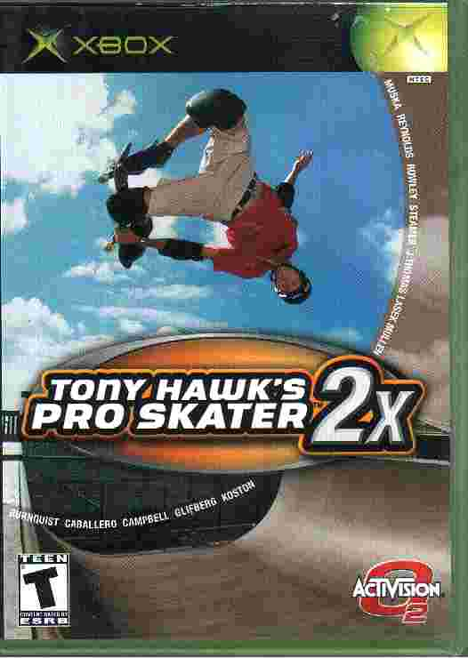 TONY HAWK'S PRO SKATER 2X xbox game