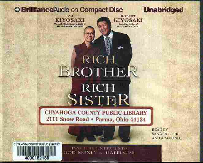 RICH BROTHER RICH SISTER by Emi Kiyosaki & Robert Kiyosaki