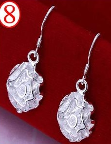 SILVER COLOR HOOK DESIGN EARRINGS 2