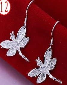 SILVER COLOR DRAGONFLY EARRINGS