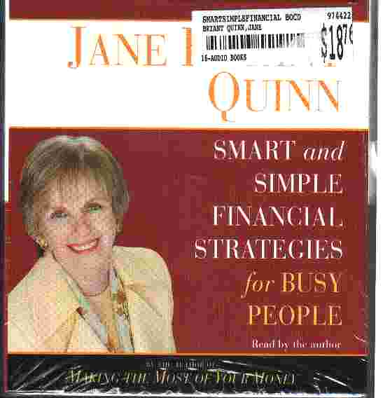 SMART AND SIMPLE FINANCIAL STRATEGIES by Jane Bryant Quinn
