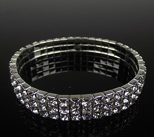 THREE ROW CLEAR BRACELET